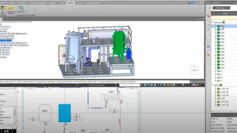 Solid Edge Modular Plant Design  P&ID and Piping Design