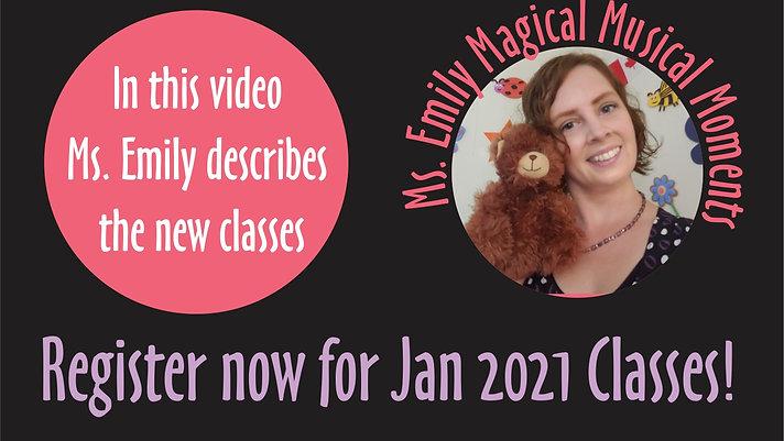 New Class Jan 2021 Magical Musical Moments