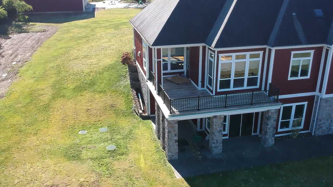 Large Driveway and deck