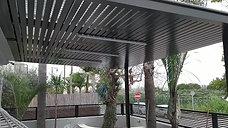 פרוייקט חדרה 2 פרגולה ,גדר,שער כניסה