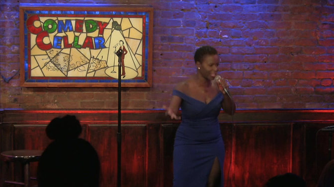 Onika McLean at The Comedy Cellar