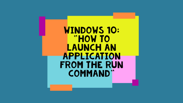 How To Open Applications From The Run Command