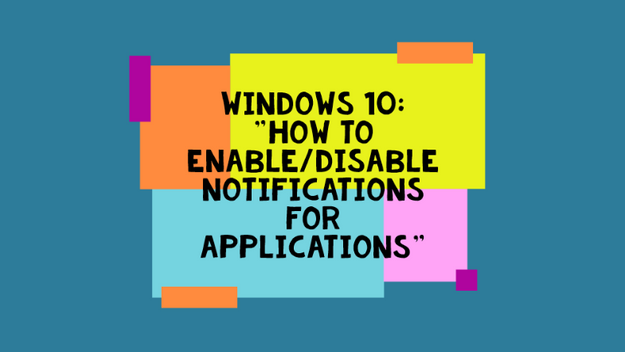 How To Enable/Disable Desktop Notifications