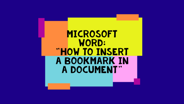 How To Create A Bookmark In Word Document