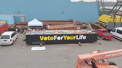 MTV Vote Early Day Barge Mural