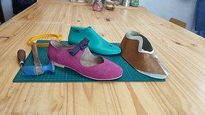 ADD-ON MODULE lace up flat shoe- MODULO COMPLEMENTARIO chatita estilo lace up
