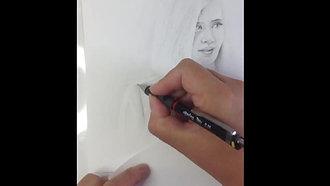 SKAM - Tegneportrett av Noora (speedet opp video)