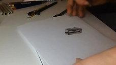 3D - tegning av blyantspisser (speedet opp)
