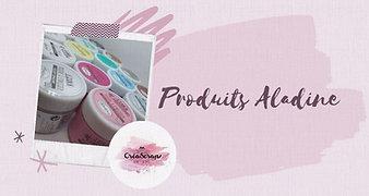Produits Aladine Encres pigment, poudres à embosser, applicateurs....