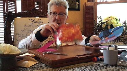 Paper Weaving A Valentine Card