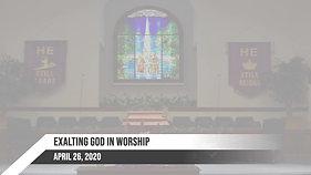 Sunday April 26, 2020