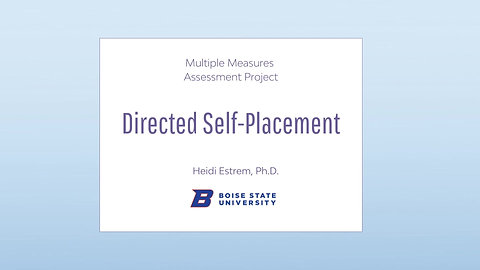 Directed Self-Placement