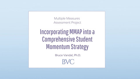 Incorporating MMAP into a Comprehensive Student Momentum Strategy
