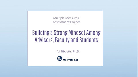 Building a Strong Mindset Among Advisors, Faculty and Students