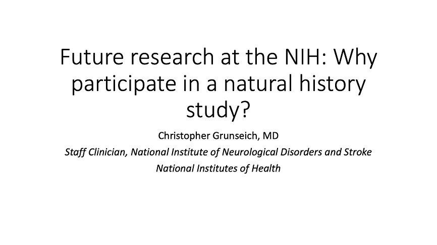 NIH: Natural History Study