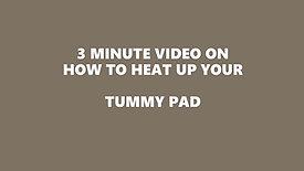 TUMMY PAD INSTRUCTIONS