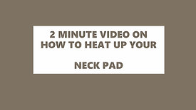 NECK PAD INSTRUCTIONS