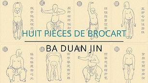 HUIT PIÈCES DE BROCART
