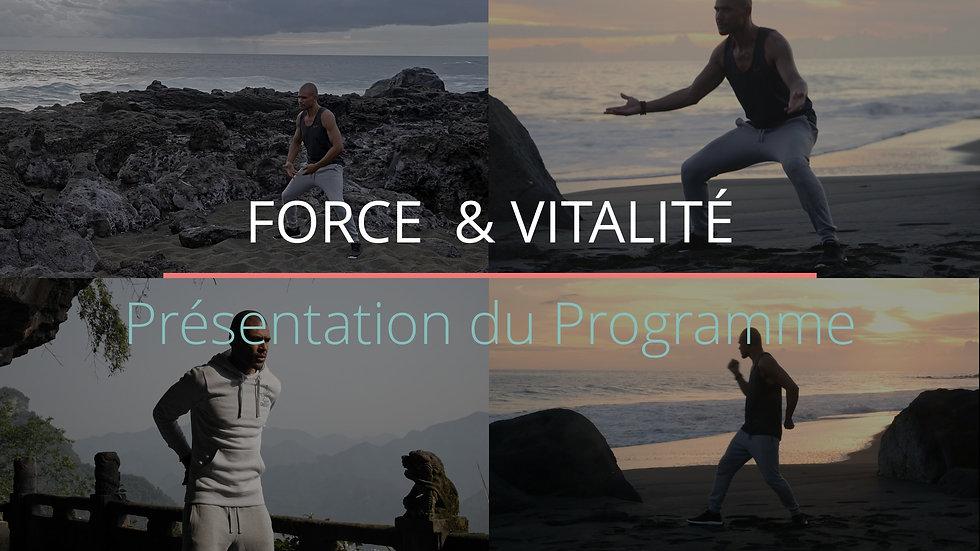 Présentation Programme: Force & Vitalité