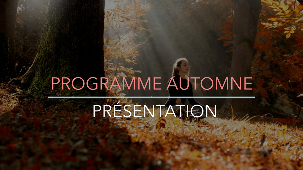 Programme Automne (présentation)