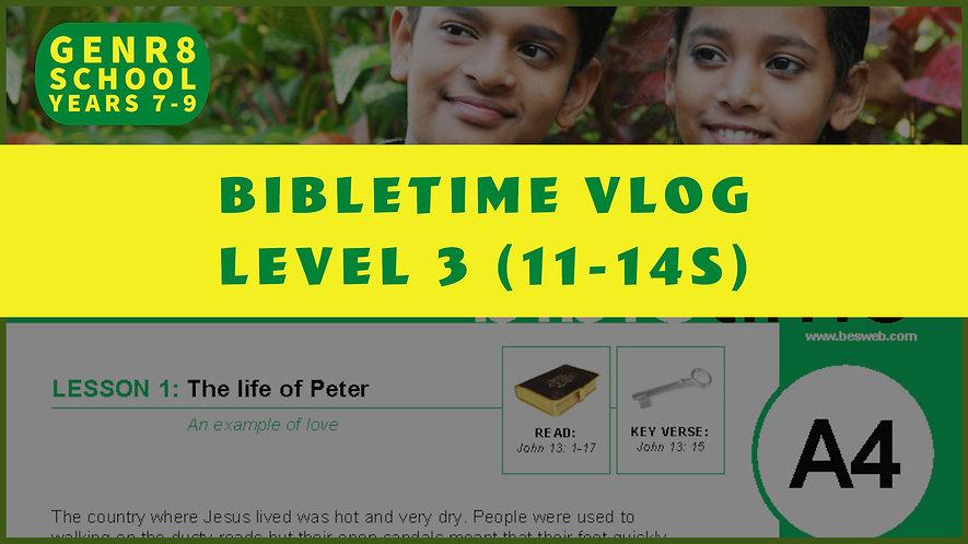 Bibletime Vlog (11-14's)