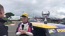 Lydia Walmsley Race Winning Interview - Snetterton