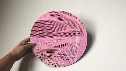 12 inch - iridescent on pink mirrored