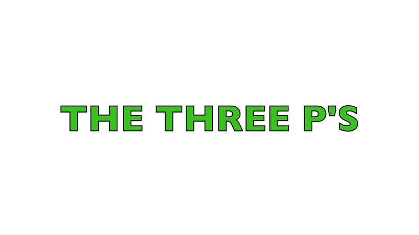 The 3 P's