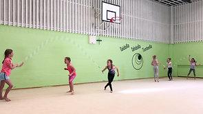 Leikki-video 16 Rope skipping -viivajuoksu