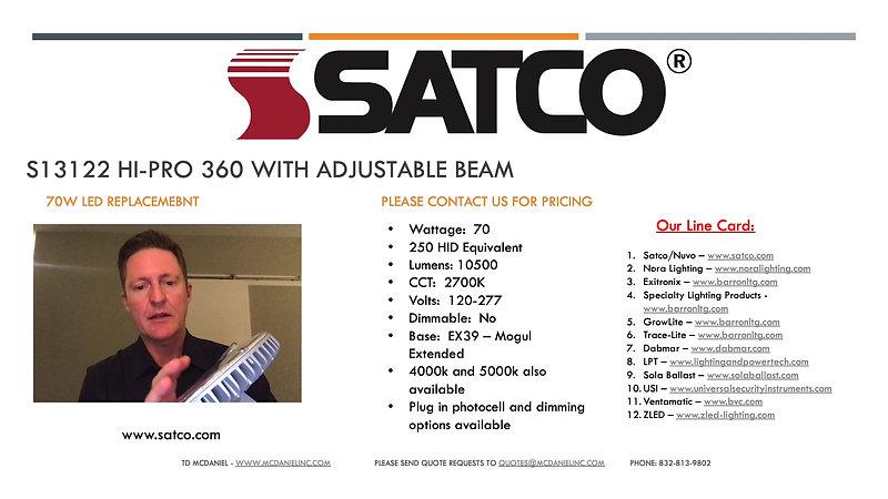 Satco HI-PRO 360 Presentation