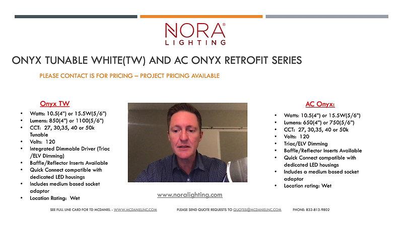 Nora Onyx Tunable White Presentation