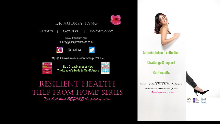 """Help From Home"" series with Dr Audrey Tang"