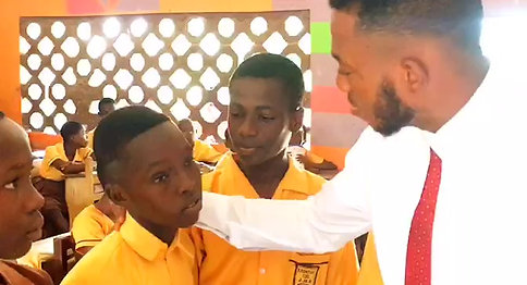 Ghana Students interview by the Ambasador