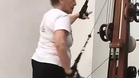 93 year old practices Gyrotonic Exercise