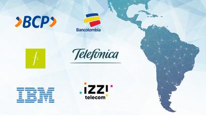 Felicitación de Banco de Crédito del Perú, Bancolombia, Falabella Chile, Telefónica Colombia, IBM Perú e Izzi Telecom México