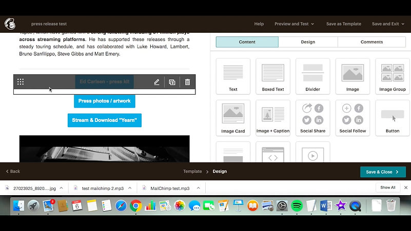 Using Mailchimp for press releases