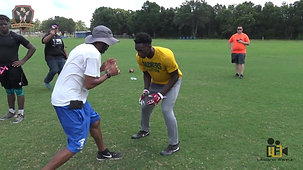Coach Tyrell Conyers Hands Release Nole Legends Football Camp