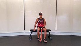 Resistance Band Ankle Stretch Tibialis Anterior Stretch)