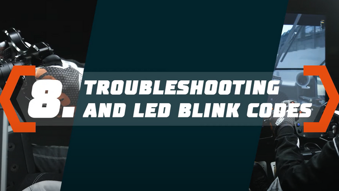 Simucube 2 Tutorial: Troubleshooting and LED Blink Codes