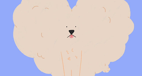 Dog_Poofy heart