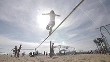 Olga Henry training at the beach