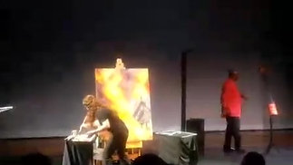 Live Fire Painting Voices of the People Polk State College