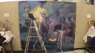 Mural Painting for Tapestries Project of Lakeland