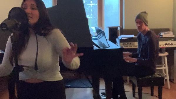 Haida How Great Thou Art album recording session 2020
