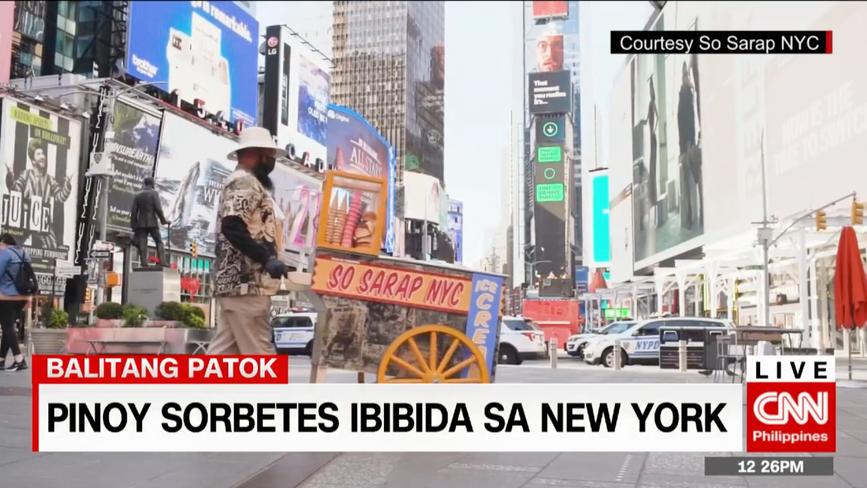 Pinoy Sorbetes ibibida sa New York