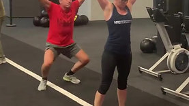 Action from the CrossFit Legends 50+ class