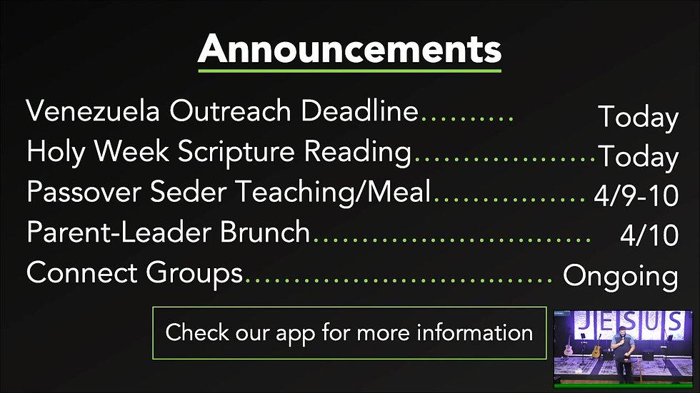 Sunday service || March, 28, 2021