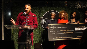 Devert Monet Hickman Accepts His $10,000 Black Design Collective Scholarship