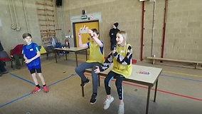 Sportievelingen GBS Asper op bezoek in Zwalm