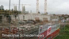 Timelapse nieuwbouwproject Scheldemeers